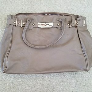 Large taupe travel bag